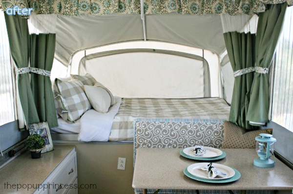 Green and Tan Camper Makeover | betterafter.net