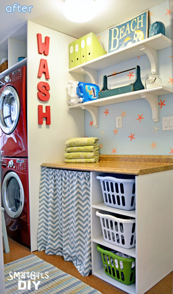 Colorful Laundry Room Makeover  betterafter.net