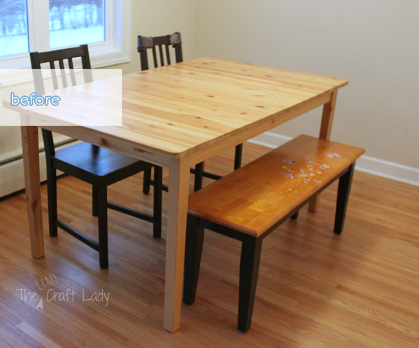 Wood Table Before