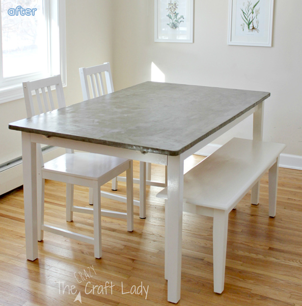 Concrete Top Dining Table Makeover | betterafter.net