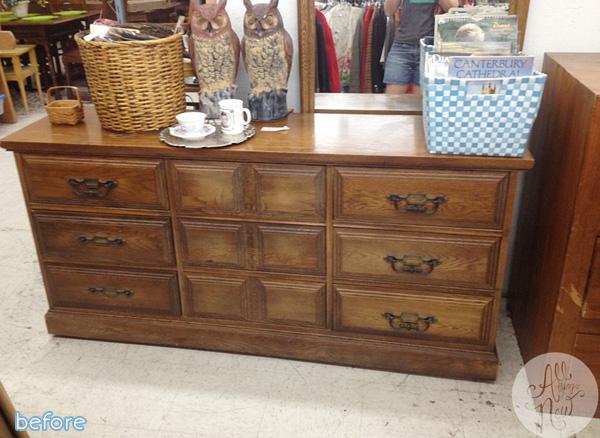 Brown Dresser Before
