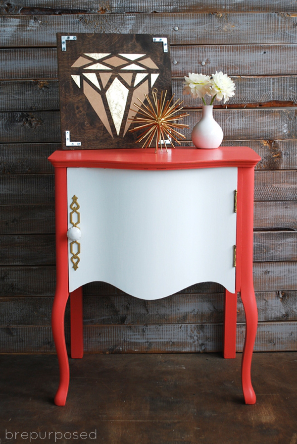 Coral Side Table Makeover   betterafter.net