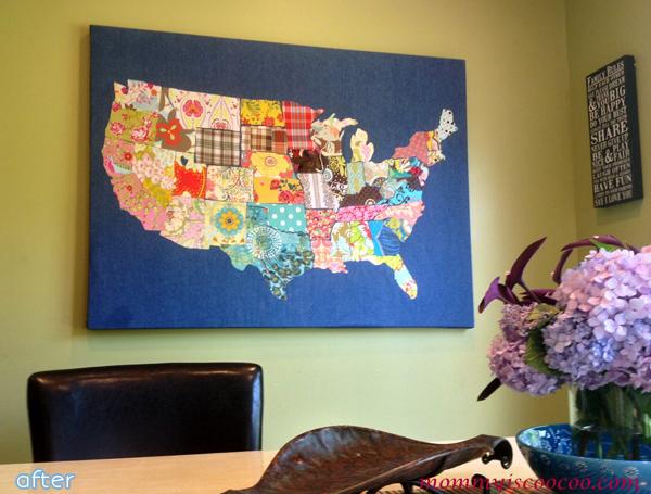 Fabric USA Map Makeover | betterafter.net