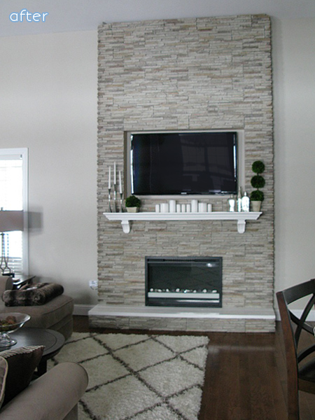 white and gray fireplace makeovers