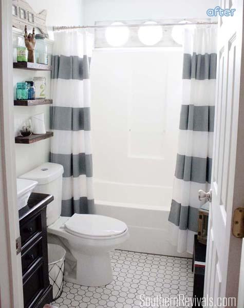 Nautical Bathroom Makeover | betterafter.net