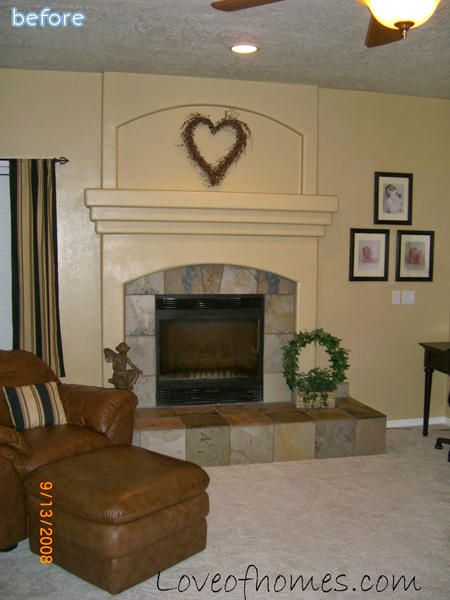 White and Gray Fireplace Makeovers | betterafter.net