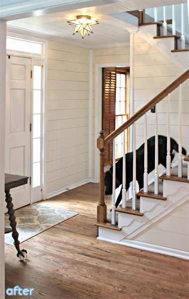 White Paneled Foyer Makeover  | betterafter.net