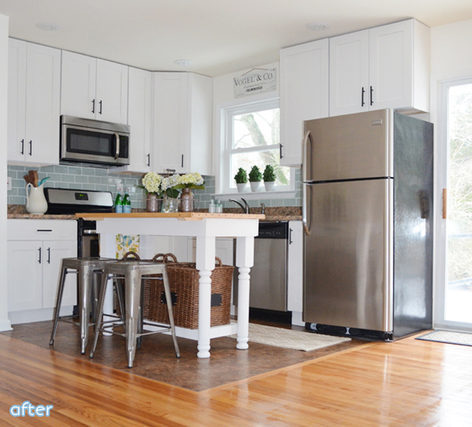 Blue and White Kitchen Makeover | betterafter.net