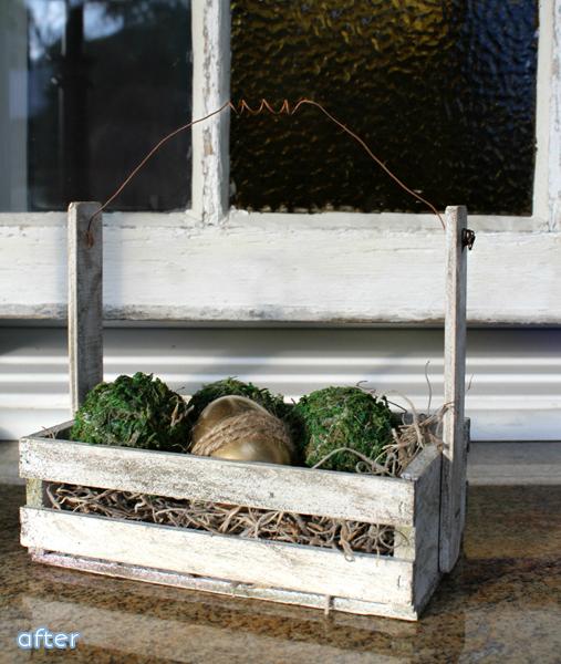Easter Egg Basket Crate Before Makeover | betterafter.net