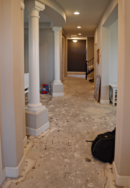 hallway ripped out