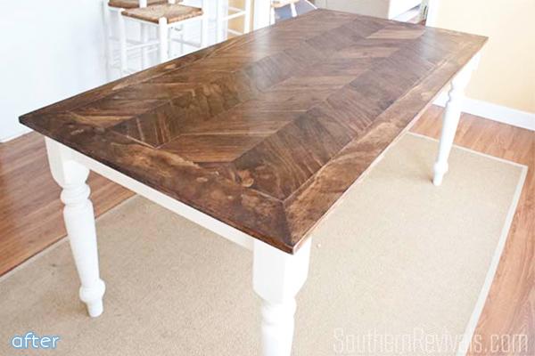 herringbone tabletop