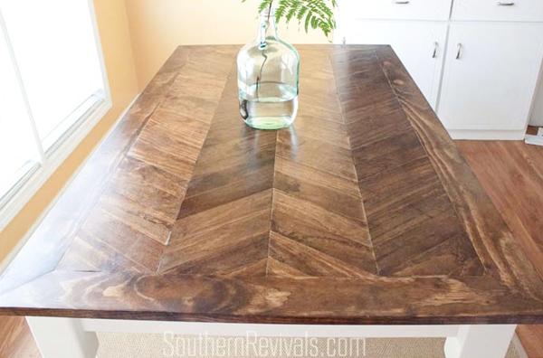 Superior Herringbone Tiletop Table · Herringbone Tabletop