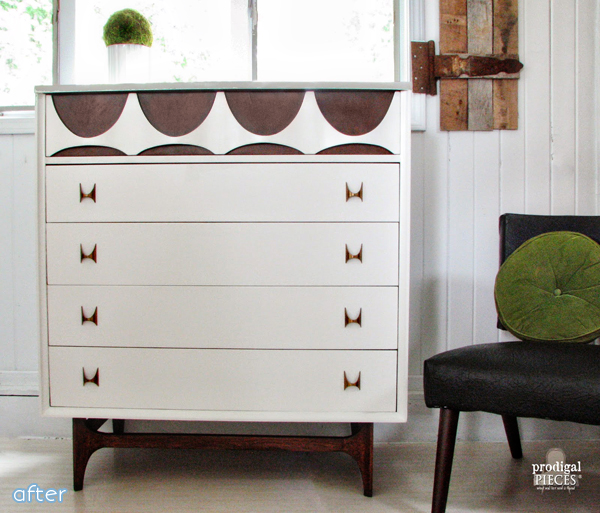 Wood and White Dresser Makeover | betterafter.net