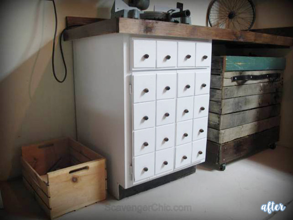 Apothecary Cabinet Makeover After