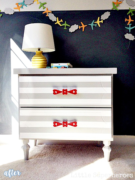 Striped Furniture Makeovers | betterafter.net