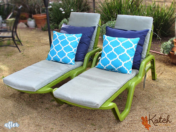 Green Lounge Outdoor Chair Makeover | betterafter.net