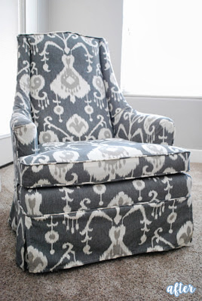 Ikat Upholstered Rocker Chairs