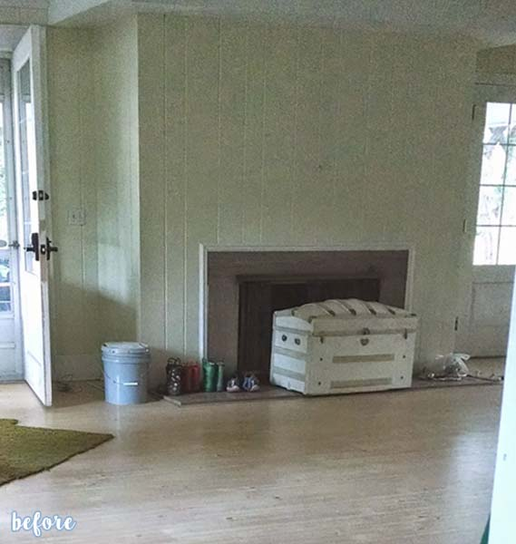 White Fireplace and Mantle Makeover | betterafter.net