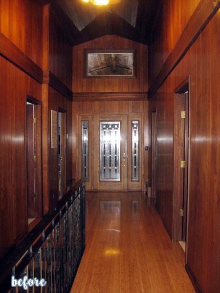 Wood Ceiling Hallway Before| betterafter.net