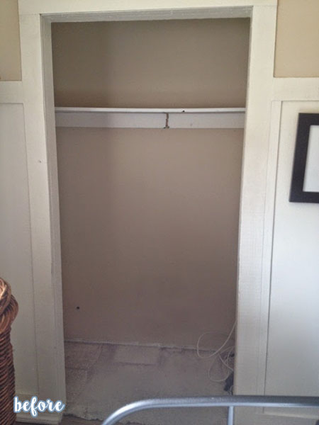Wood Plank Closet Office Before