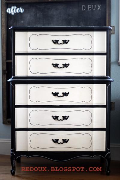 Black and White Dresser Makeover | betterafter.net