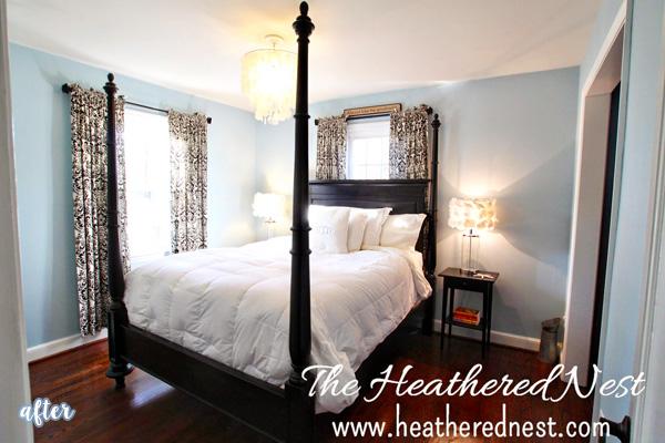 Blue Master Bedroom Makeover | betterafter.net