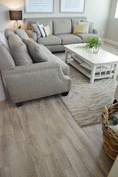 New floor reveal better after for Living room floor decor
