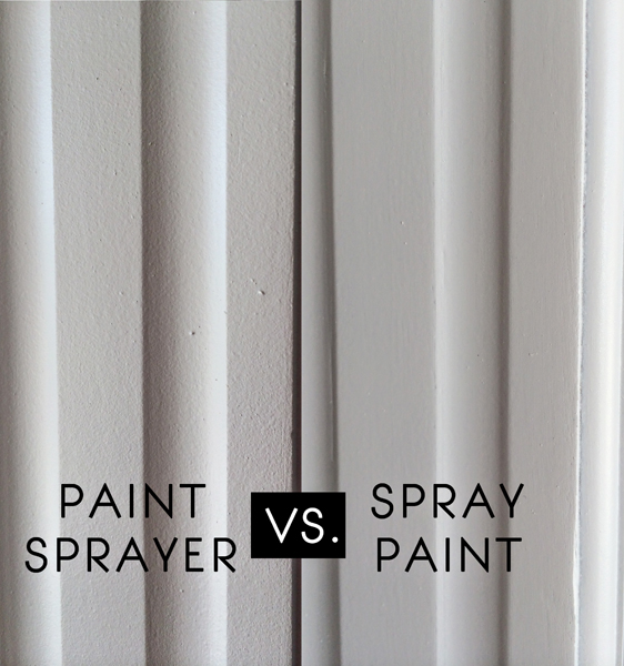 spray paint vs. paint sprayer