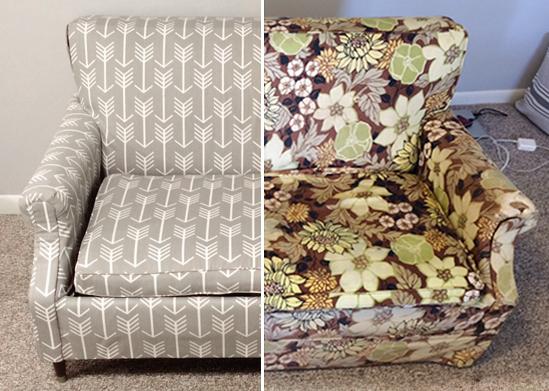 Gray Arrow Couch sidebyside  copy