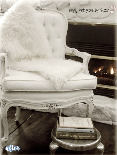 White Tufted Chair Makeover