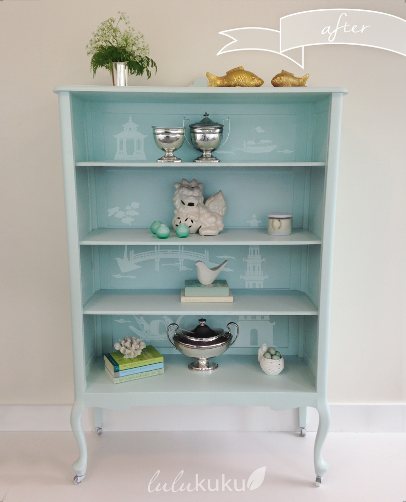 Chinoiserie China Cabinet Makeover With Lulukuku Custom Decals