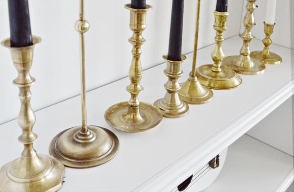 Brass Candlesticks my brass candlestick collection - better after