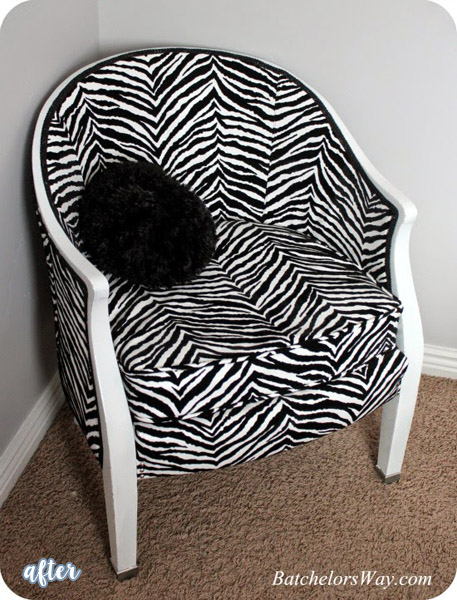zebra-chair-makeover