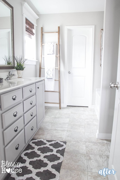 Rustic radness better after for Gray rustic bathroom