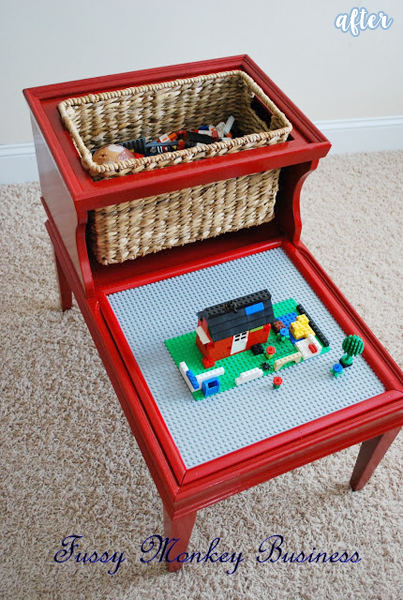 Red Lego Table