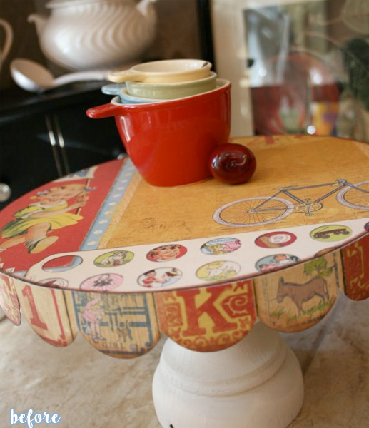 patriotic cake stand before