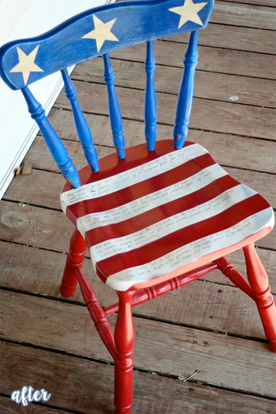 patriotic chair after copy