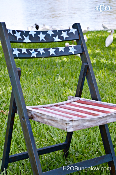patriotic folding chair after