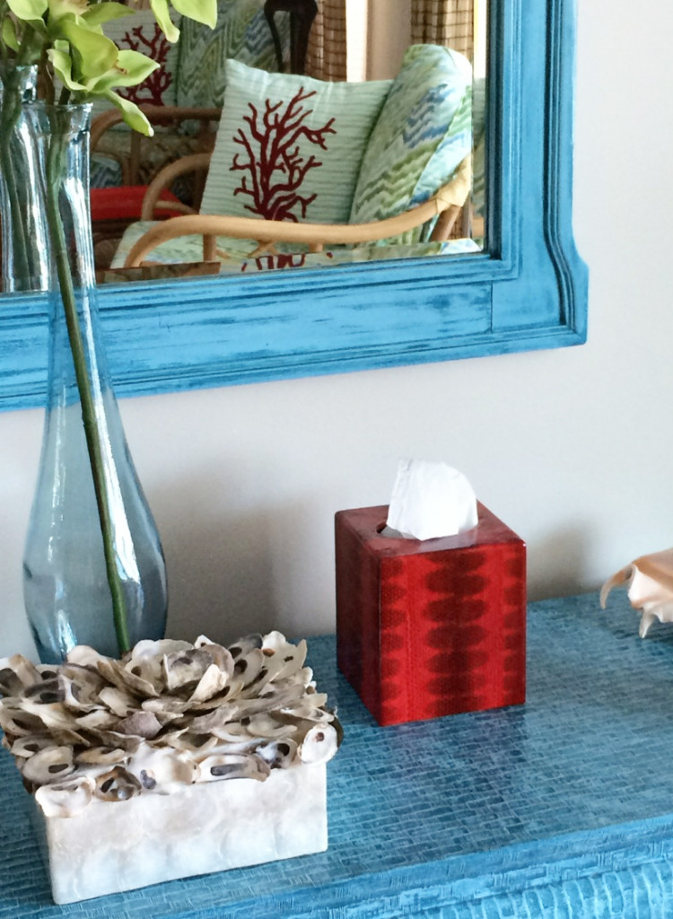 snakeskin tissue box makeover
