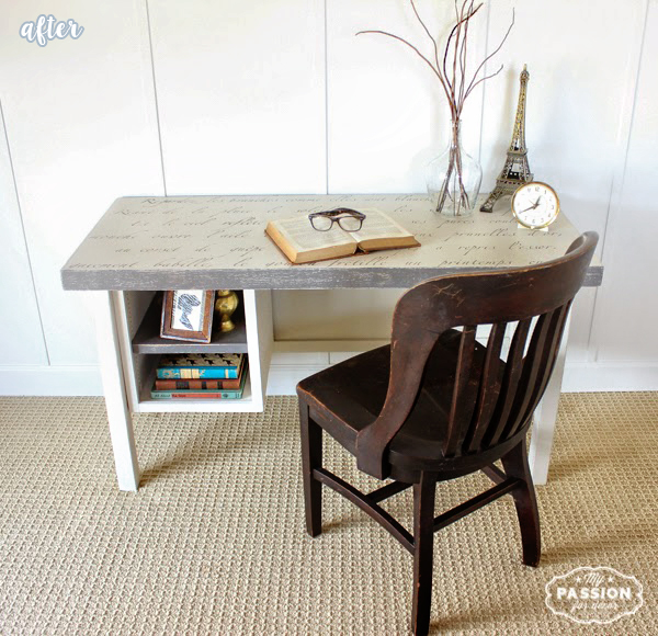 White and Gray French Poem Desk
