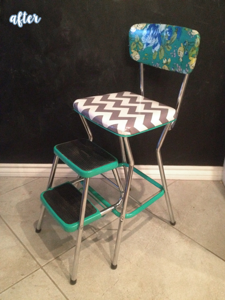 Chevron and Floral High Chair