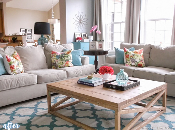 designed to swell family room makeover after