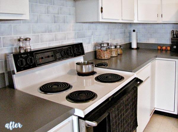 gray kitchen makeover