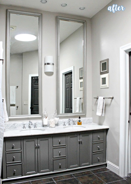 master bathroom makeover marble countertops