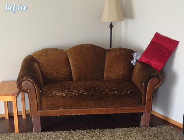 Green Sofa Before 1