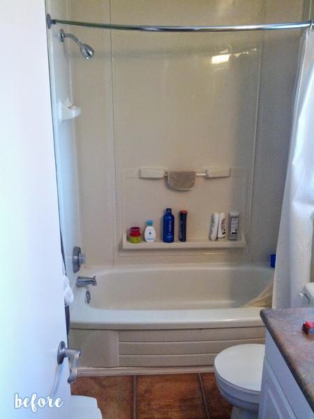 White Tiled Bathroom Before 1