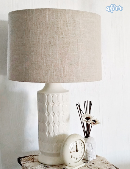 Thrifted Lamp Makeover After
