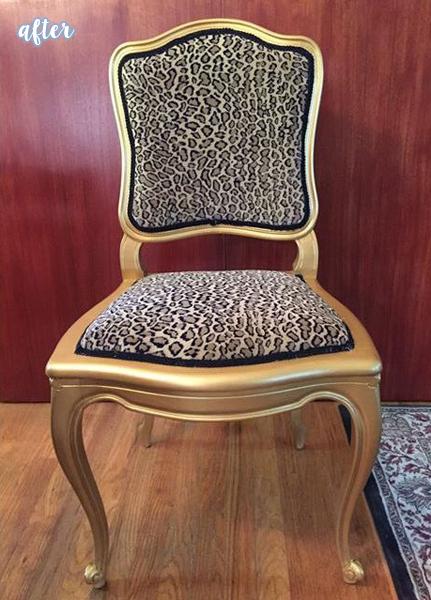 Cheetah Cane Chair Before