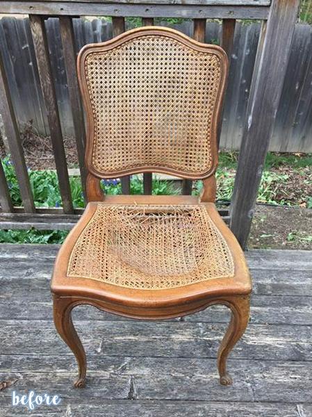 Cheetah Cane Chair