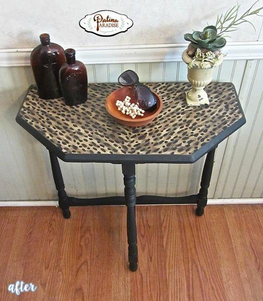 Faux Leopard Table